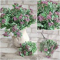 Букетик штучних квітів, інтер'єрних, декоративних, 7 гілочок, вис. 30 см., 40/30 (цена за 1 шт. + 10 гр.), фото 1