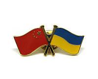 Значок флаги Украина Китай