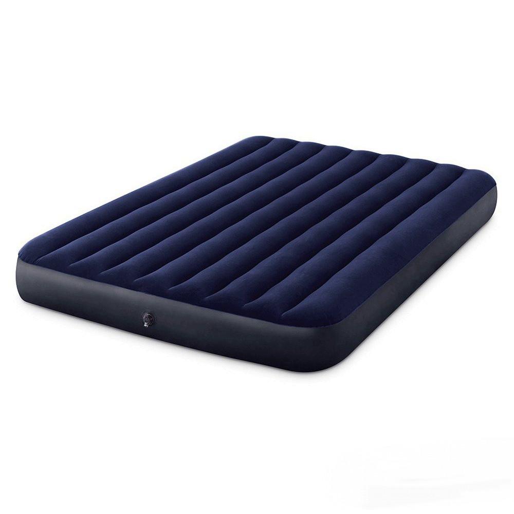 Надувний двомісний матрац Intex Classic Downy Airbed 64759, 152*203*25 см, синій