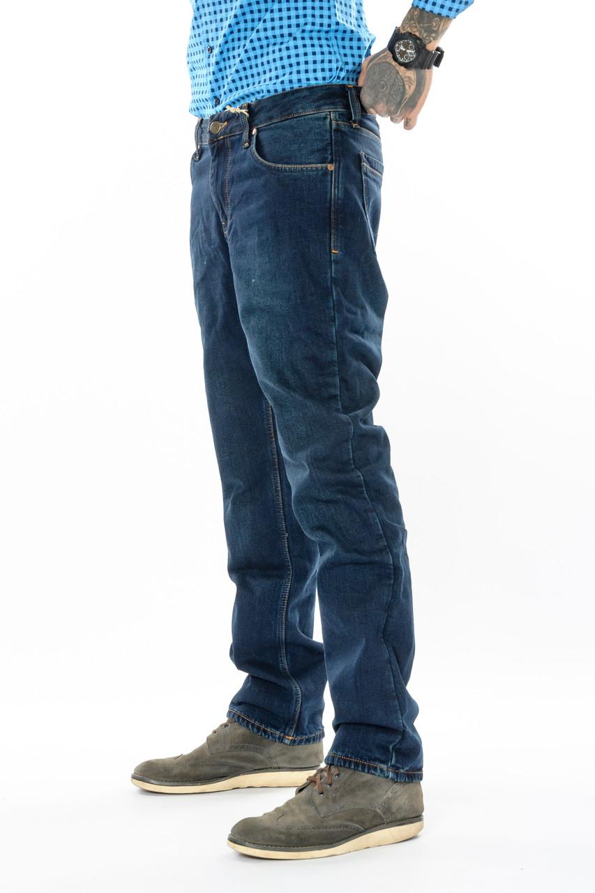 Мужские джинсы утепленные Franco Benussi 20-140 TORINO темно-синие