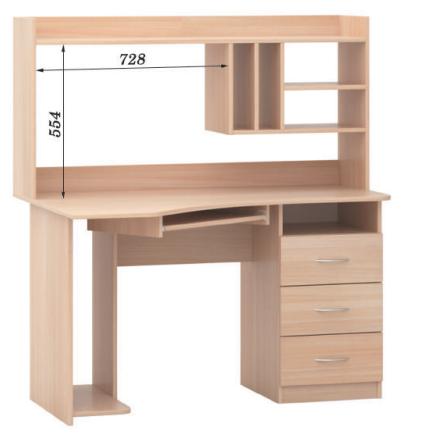 Стол письменный СПК-01 не стандарт РТВ