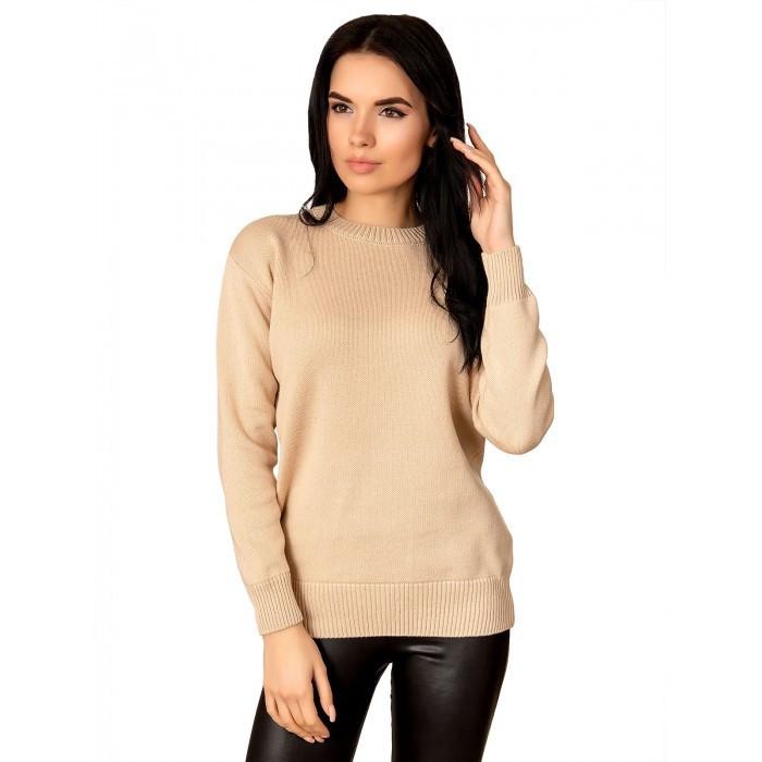 Вязаный свитер Беж 42-46 Хлопок