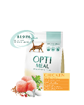 Сухой корм для взрослых котов - КУРИЦА Opti Meal 4 кг
