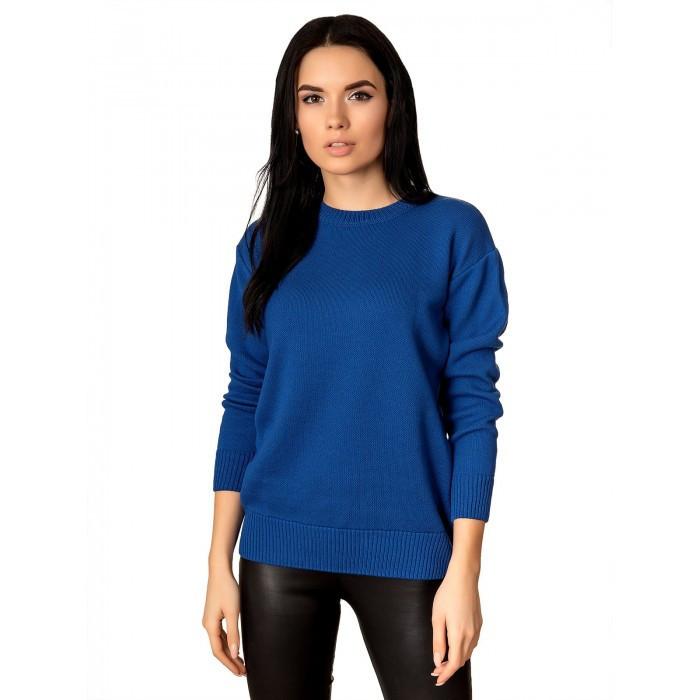 Вязаный свитер Синий 42-46 Хлопок