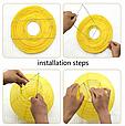 Бумажный подвесной шар желтый, 25 см., фото 2