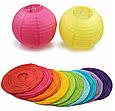 Бумажный подвесной шар желтый, 25 см., фото 4