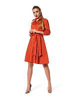 Повседневное платье рубашечного кроя с клешной юбкой, фото 1