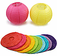 Бумажный подвесной шар розовый, 25 см., фото 4