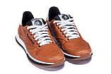 Мужские кожаные кроссовки  Reebok Classic brown, фото 3
