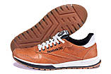 Мужские кожаные кроссовки  Reebok Classic brown, фото 5