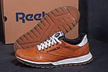 Мужские кожаные кроссовки  Reebok Classic brown, фото 7