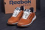 Мужские кожаные кроссовки  Reebok Classic brown, фото 8