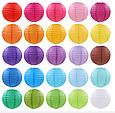 Бумажный подвесной шар малиновый, 25 см., фото 3