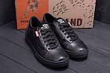 Мужские кожаные кеды Vans Clasic Black, фото 8