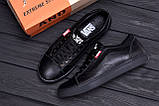 Мужские кожаные кеды Vans Clasic Black, фото 9