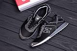 Мужские кожаные кроссовки NB Clasic Black, фото 10