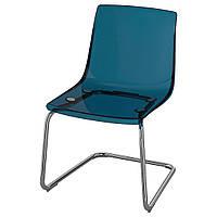 Кресло для столовой IKEA TOBIAS хромированный синий 603.347.22