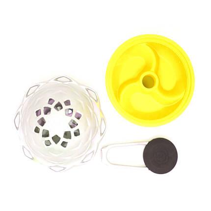 Комплект чаша силіконова 3 камери жовта+калауд 2, фото 2