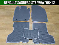 ЕВА коврики на Renault Sandero Stepway '08-12. Ковры EVA Рено Сандеро Степвей, фото 1