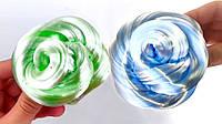 Слайм Зеркало с Зелёным Глиттером Умный пластилин Хендгам Жидкое Стекло Жвачка для Рук, фото 1