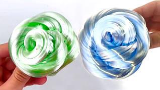 Слайм Зеркало с Зелёным Глиттером Умный пластилин Хендгам Жидкое Стекло Жвачка для Рук