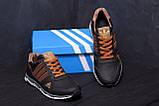 Мужские кожаные кроссовки Adidas Tech Flex Brown, фото 9