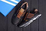 Мужские кожаные кроссовки Adidas Tech Flex Brown, фото 10