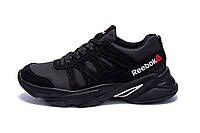 Мужские кожаные кроссовки Reebok Classic Black ;, фото 1