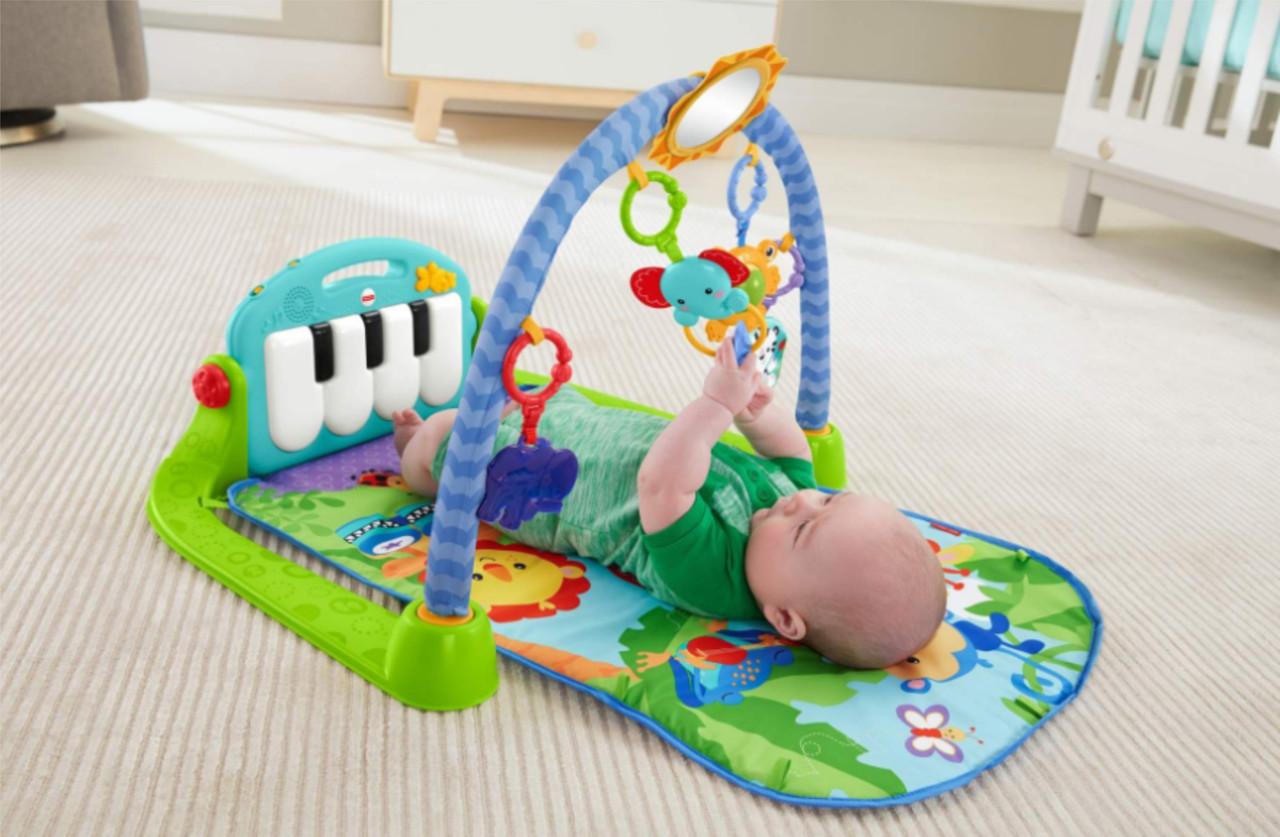 Развивающий зеленый коврик Piano Fitness Rackhe