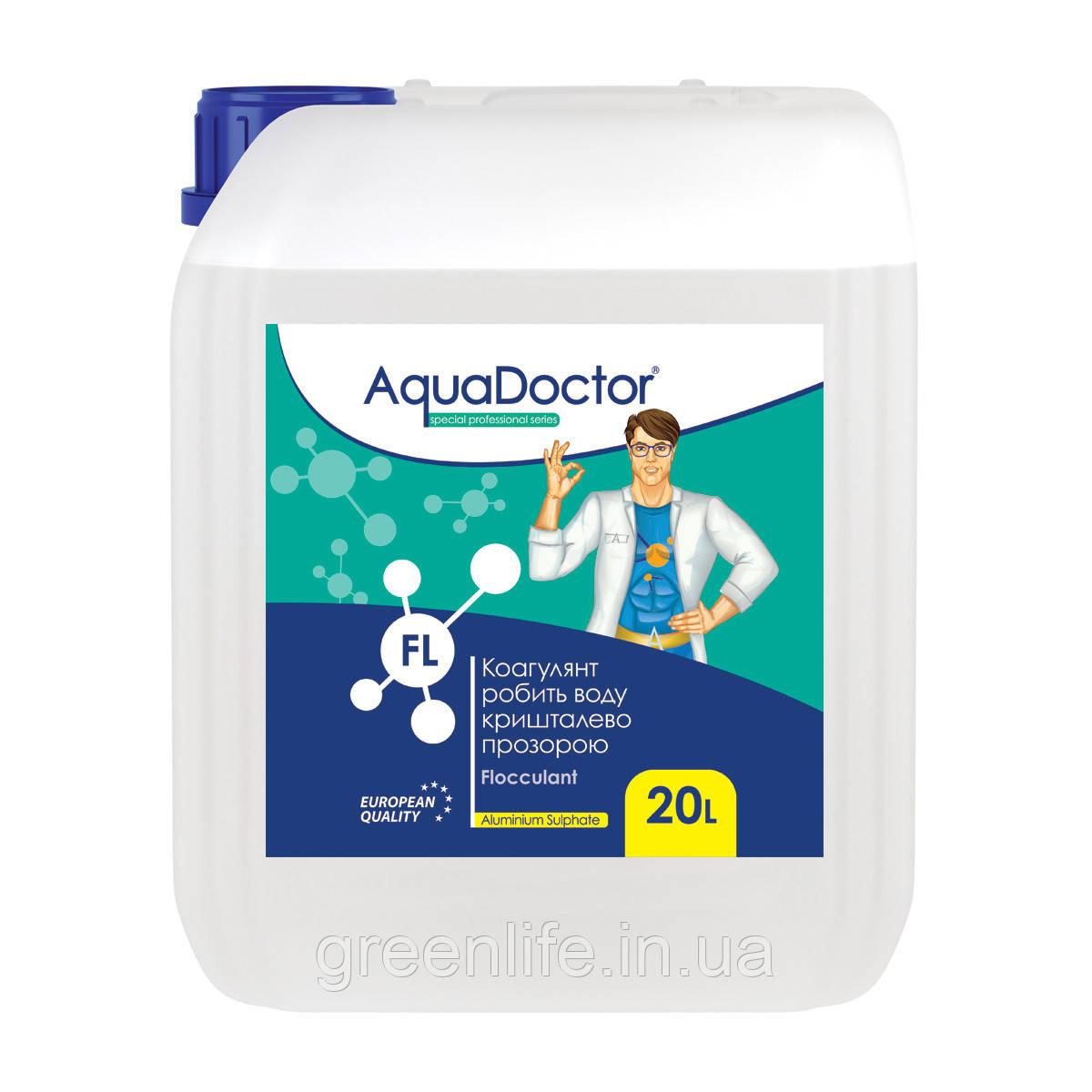 Жидкое коагулирующее средство AquaDoctor FL, Аквадоктор, 20 л