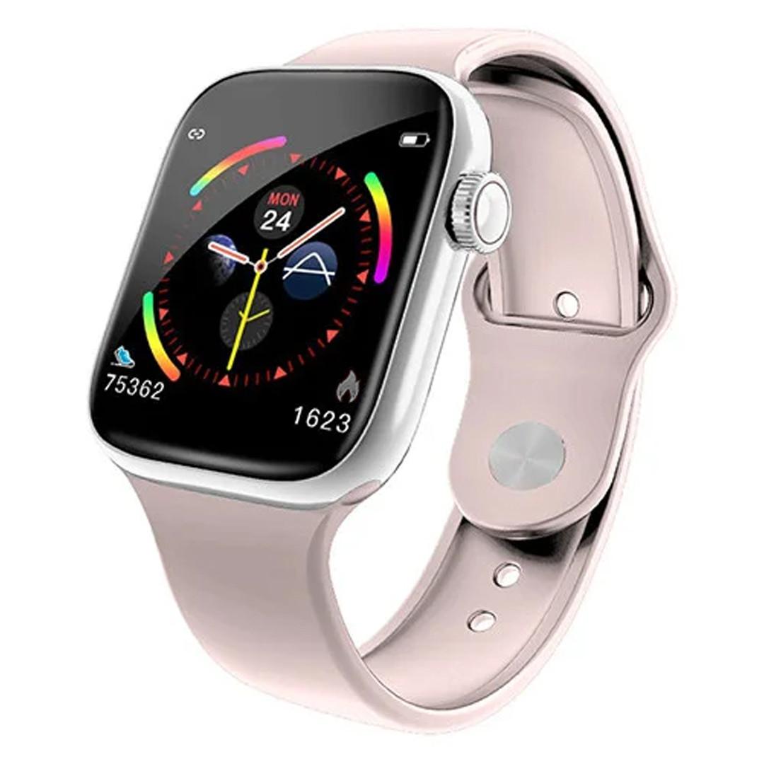 Умныечасы Smart Watch W4 сенсорные розовые(смарт часы, фитнес-браслет спортивный)