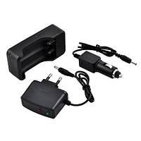 Зарядное устройство bl-186b / 403, для двух аккумуляторов 18650 / 14500, индикация заряда, от сети 220в и 12в