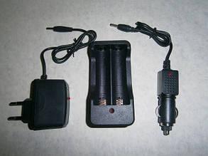 Зарядное устройство bl-186b / 403, для двух аккумуляторов 18650 / 14500, индикация заряда, от сети 220в и 12в, фото 2