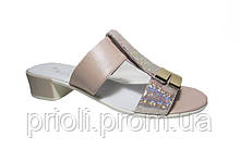 Женские босоножки сабо каблук кожа 36 37 38 39 40 41 размер
