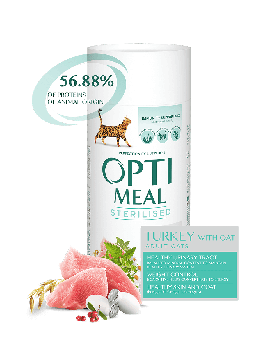 Сухой корм для взрослых стерилизованных котов Opti Meal 10 кг