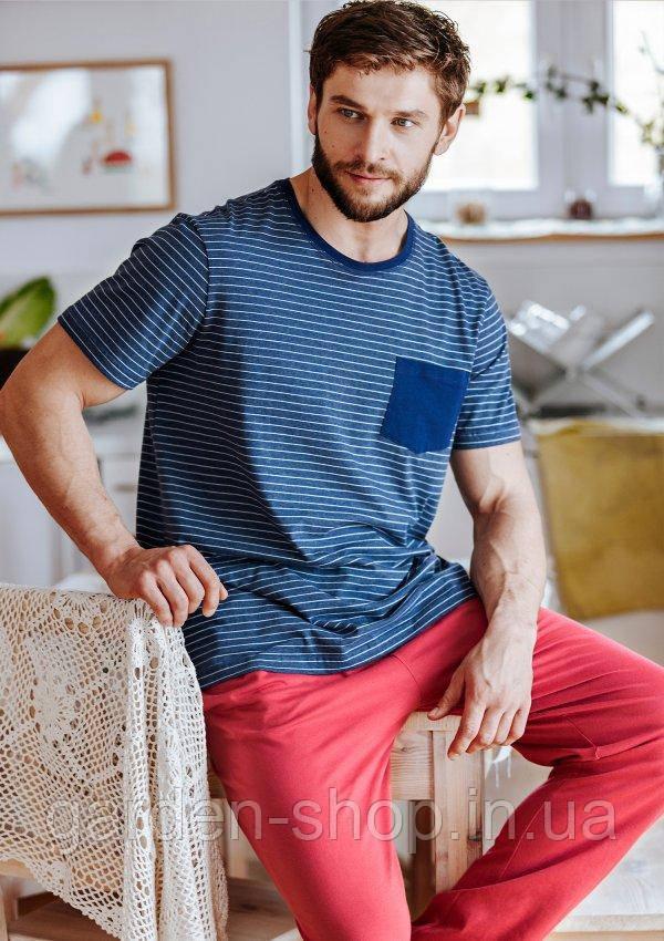 Піжама чоловіча KEY MNS 385 комплект комплект футболка/штани