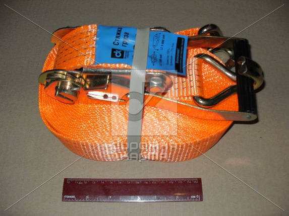 Стяжка груза, 5t. 50mm.x12m.(0.5+11.5) пластик. ручка  163925 (DK-3923), фото 2