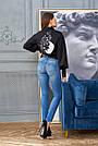 Рубашка женская чёрная хлопок, стильная, молодёжная, фото 5