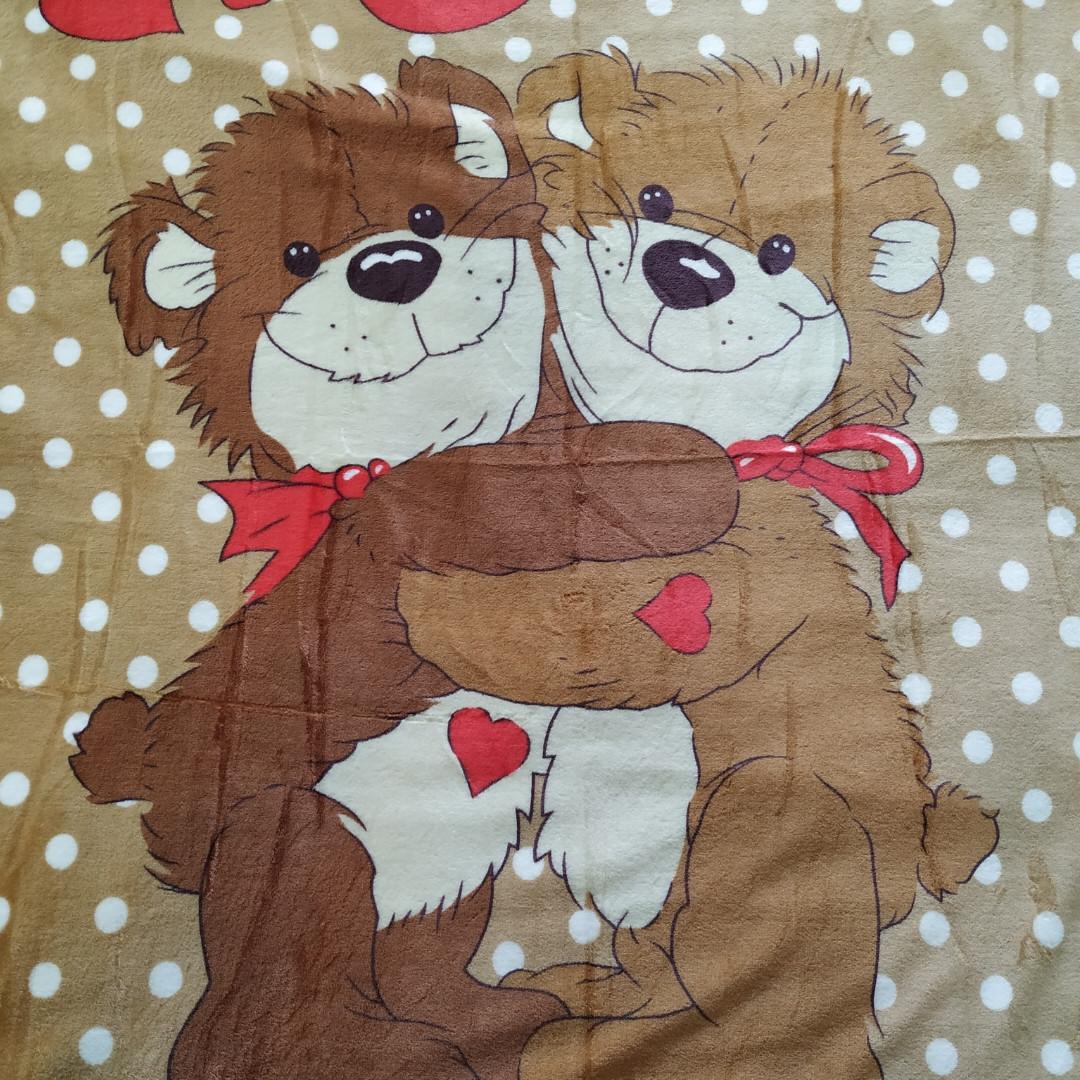 Плед дитячий 100*140 шоколадний ведмедики