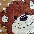 Плед дитячий 100*140 шоколадний ведмедики, фото 2