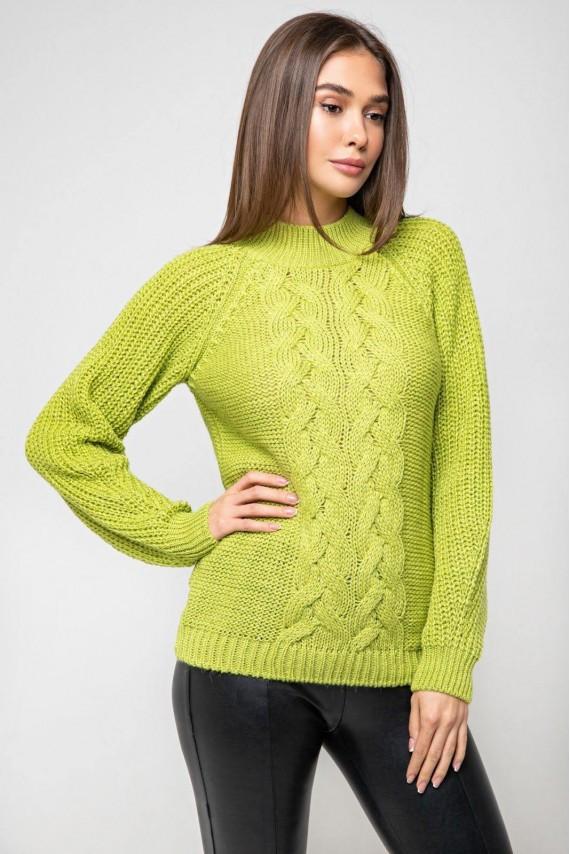 Красивий вязаний светр 42-48 розміри