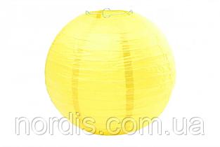 Бумажный подвесной шар желтый, 30 см.