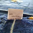 Плед дитячий пухнастий мікрофібра синій з 🐻 розмір 100*140 синій, фото 4