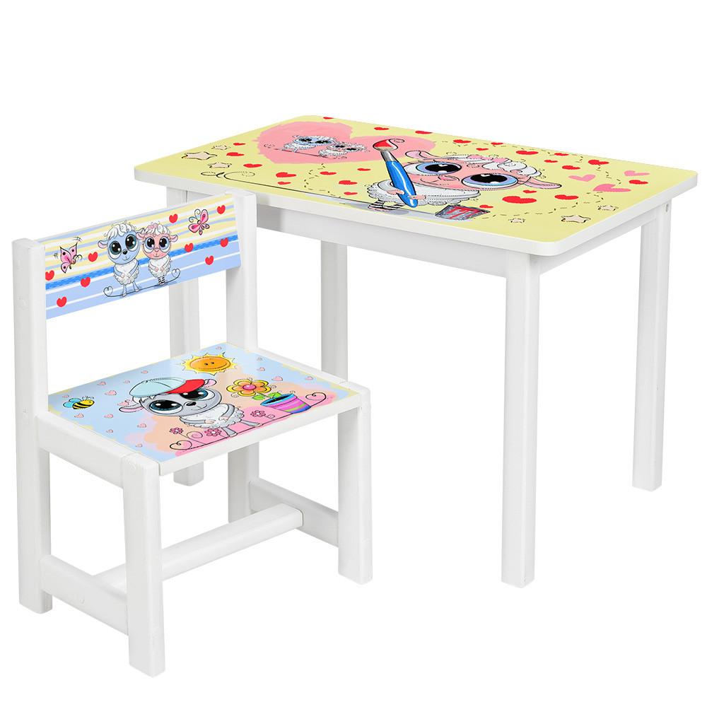 Детский стол со стульчиком Bambi BSM1-28 Овечка художник