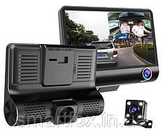 Автомобильный видеорегистратор T655M с 3 камерами