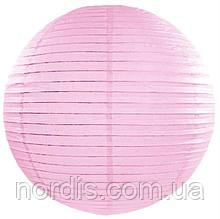 Бумажный подвесной шар розовый, 30 см.