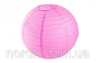 Бумажный подвесной шар малиновый, 30 см.