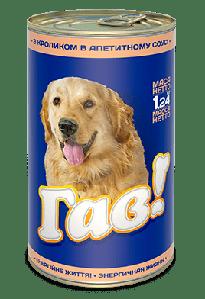 ГАВ 1,240 кг. Консервированный корм для взрослых собак «С кроликом в соусе»