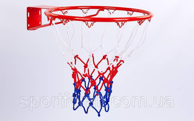 Сетка баскетбольная (полипропилен, 12 петель, цвет бело-красно-синий, в компл. 2 шт.)  C-5642
