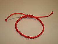 Браслет Красная нить от сглаза (плетенка косичка)